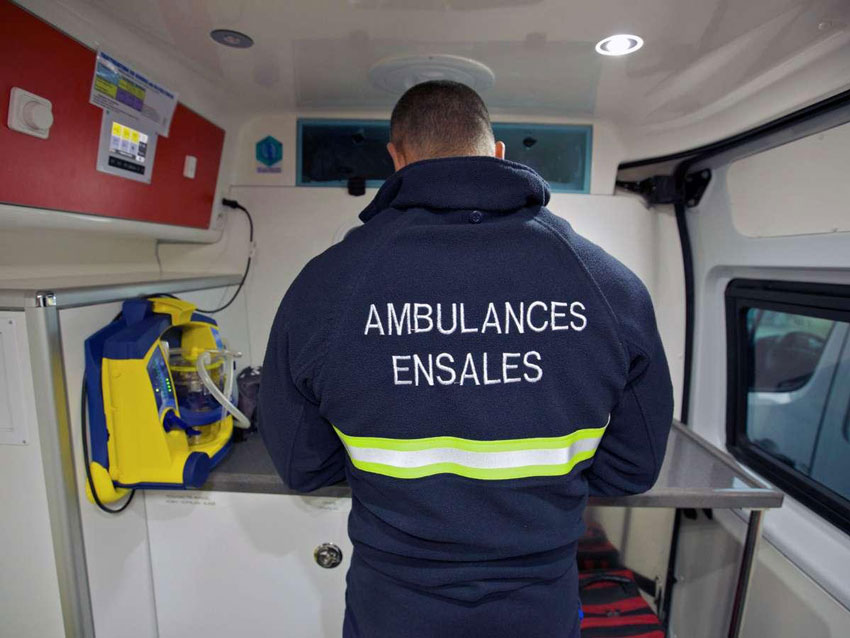 veste ambulances ensales
